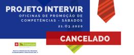 Cancelada Oficina de Promoção de competências